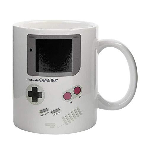 N\C Divertidas tazas sensibles al calor del juego, taza de cerámica del muchacho del hogar de la oficina de la porcelana blanca de la cerveza de la leche de la taza de café