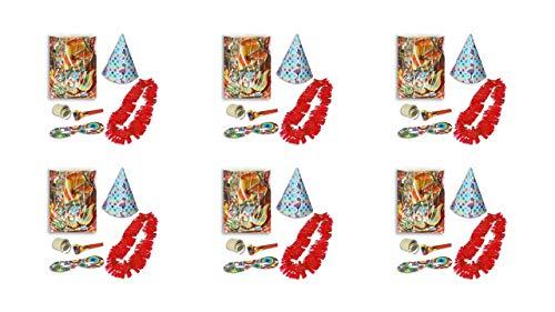 ALMACENESADAN 9959, Pack 6 cotillones para Fiestas y cumpleaños; Compuesto por 5 Productos, Sombrero,...