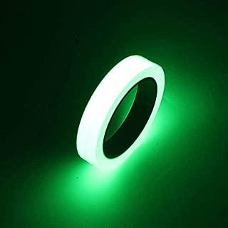 FomCcu ruban adhésif de sécurité lumineux, brille dans le noir, autocollant pour design intérieur 1 cm X 10m