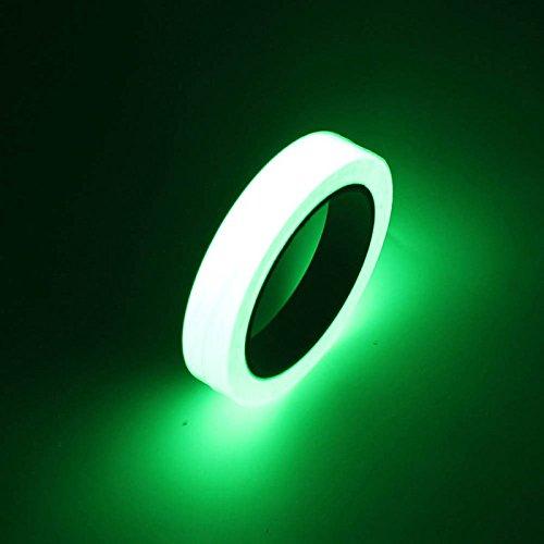 FomCcu ruban adhésif de sécurité lumineux, brille dans le noir, autocollant...