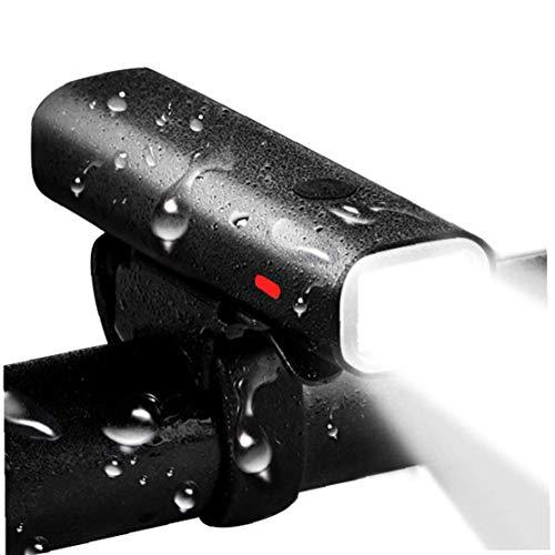 USB De Bici Linterna De La Luz Delantera De La Bicicleta Luz Adapta Recargable De Waterpoof para Todas Las Bicicletas Al Aire Libre del Producto Negro