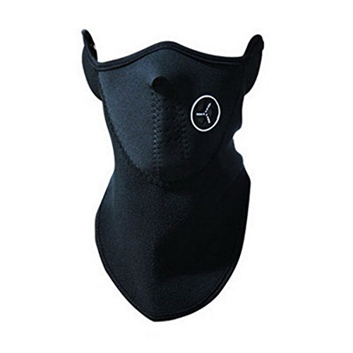 Haotfire Cold Weather Lightweight Ergonomic Neck and Face Mask With Air Holes For Maximum Comfort (Black)