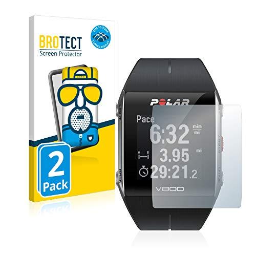 BROTECT Full-Cover Schutzfolie Matt kompatibel mit Polar V800 (2 Stück) - Full-Screen Bildschirmschutz-Folie, 3D Curved, Anti-Reflex