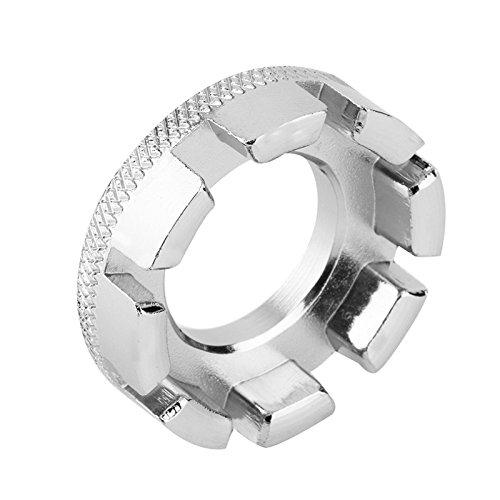 Meet&sunshine Bicycle 8 Way Spoke Spanner, Cycling Wheel Rim Wrench Repair Tool (Silver)