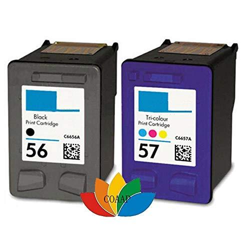 WIYP 2 Cartucho de Tinta Compatible for HP PSC 4200 1110 1205 1210 1215 1219 1315 1340 1350 2210 2420 HP56 HP57