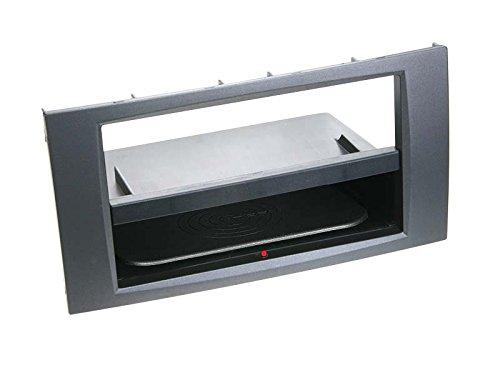 ACV Adaptateur de façade Soft Touch 2-DIN Inbay pour Ford > Anthracite