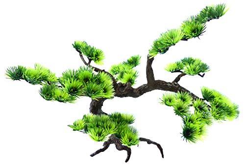 Evil Wear Aquarium Terrarium Pflanze Mini Bonsai Baum grün 35x20cm