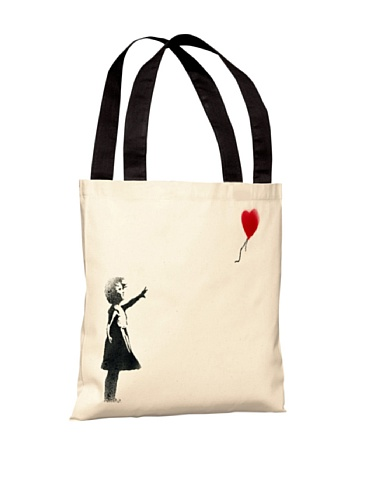 One Bella Casa 71820TT18P 45,72 cm Sempre há esperança bolsa de poliéster da Banksy