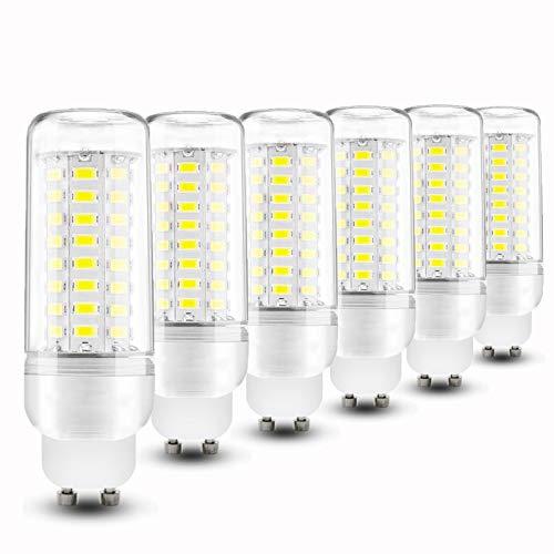 CNMJI Bombillas LED GU10 12W Blanco Frio (6000K) 1200LM AC 110V/230V 100W Incandescente Bombillas Equivalentes, Pequeño lámpara Ahorro de energía, No Regulable - 6 Unidades,220V~240V