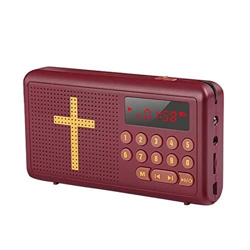Vtops - Lettore audio portatile con lettore biblico e comodo regalo per amici di famiglia, mini lettore audio parlante biblica