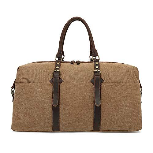2 en 1 bolsa de ropa y Duffle Fin de semana de gran tamaño de la lona bolsa impermeable bolsa de asas del gimnasio de deportes for el bolso de hombro de los hombres Las mujeres viajan Correa de hombro