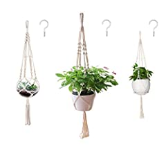 💕HANDMADE WEAVE:Show your plants some love with this elegant, vintage-inspired macrame plant hanger. Simple, yet meticulously handcrafted, this beauty would be add a touch of elegance and beauty to your home, balcony or your patio. 💕PACKAGE INCLUDE: ...