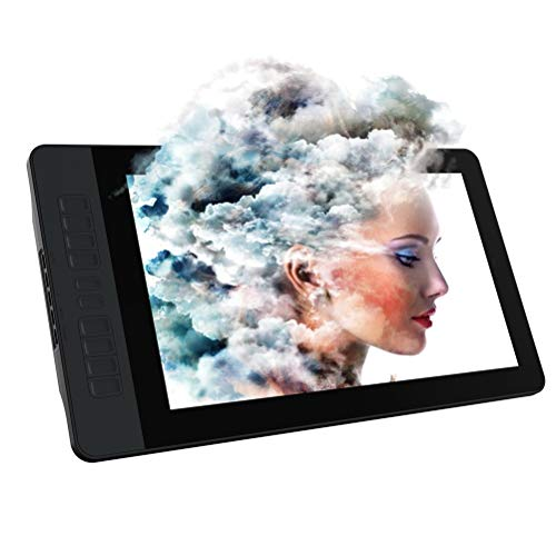 WUHUAROU 15.6 Inches HD Graphics Drawing Tablet Monitor Gamut with 8192 Levels Battery-free Pen