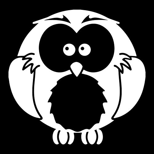 ZQZL Car Stickers 13CM*12.7CM funny fat owl car sticker