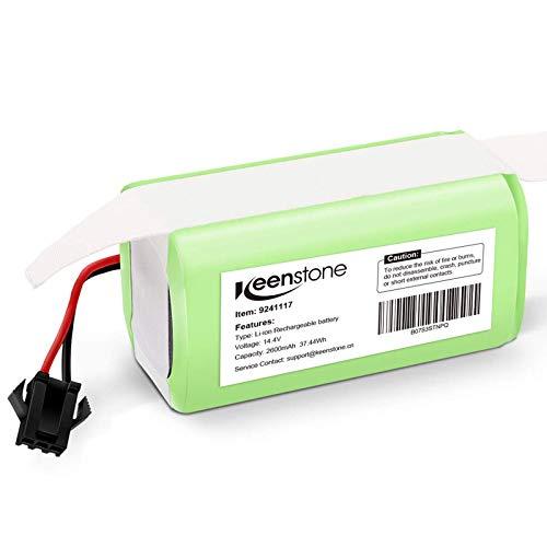 Keenstone Batería de Reemplazo para Conga Excellence 990, 14.4V 2600mah Li-Ion, Compatible con Conga Excellence 990 950 1090 DEEBOT N79S N79 Eufy RoboVac 11 11S 30 30C 12 35C IKOHS NETBOT S14 S15