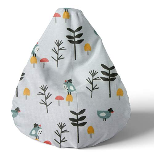 joyfill Sitzsack mit Bezug, Stuhl für Kinder und Erwachsene, Weicher Stoff, 240L (5062 Mustard Canary), mehrfarbig