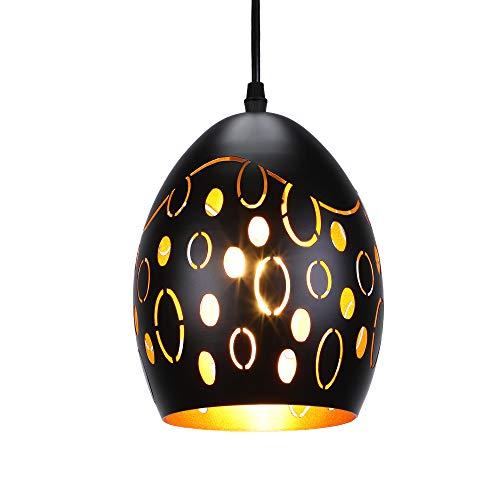 lampadario a sospensione nero industrial LIGHTESS Lampada a Sospensione Vintage Industriale