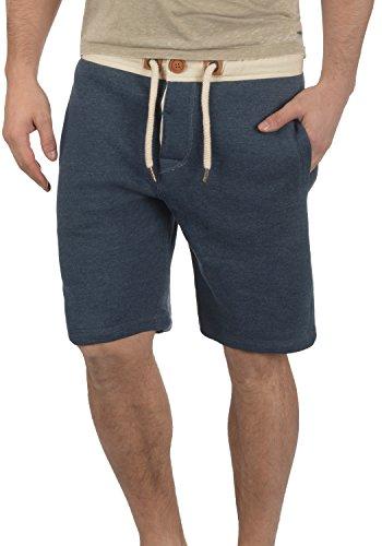 !Solid TripShorts Herren Sweatshorts Kurze Hose Jogginghose Mit Fleece-Innenseite Und Kordel Regular Fit, Größe:L, Farbe:Insignia Blue Melange (8991)