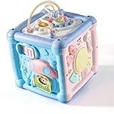 Lihgfw Bebé juguete mano tambor caja de seis caras sobre 1 año edad bebé niños juguete juguete pat batería niño y niña educación temprana rompecabezas recién nacido cumpleaños regalo de regalo versión