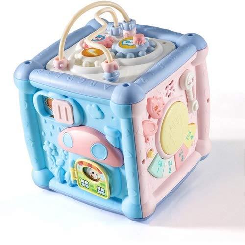 Lihgfw Baby Spielzeug Handtrommel Six-seitige Kastenkörper über 1 Jahr Alte Baby Kinder Musik Spielzeug Pat Drum Jungen und Mädchen Frühe Bildung Puzzle Neugeborenen Geburtstagsgeschenk Ladeversion