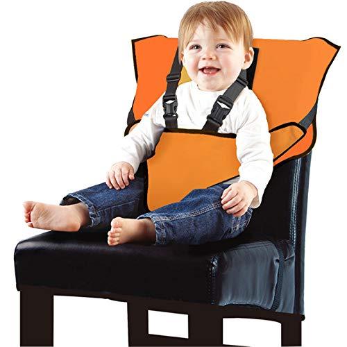 Arnés De Seguridad Infantil, Conveniente, Rápido Y Fácil, Adecuado para Todos Los Comidas (6-30 Meses) |,Naranja