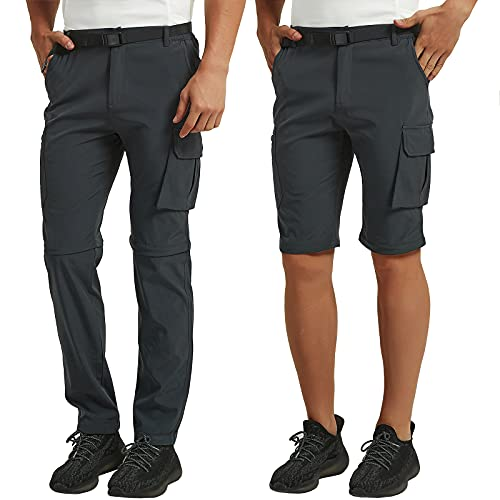 CARETOO Pantaloni Trekking Uomo Outdoor Pantalone da Lavoro Asciugatura Rapida Traspiranti Pantaloni Impermeabile Arrampicata Escursionismo