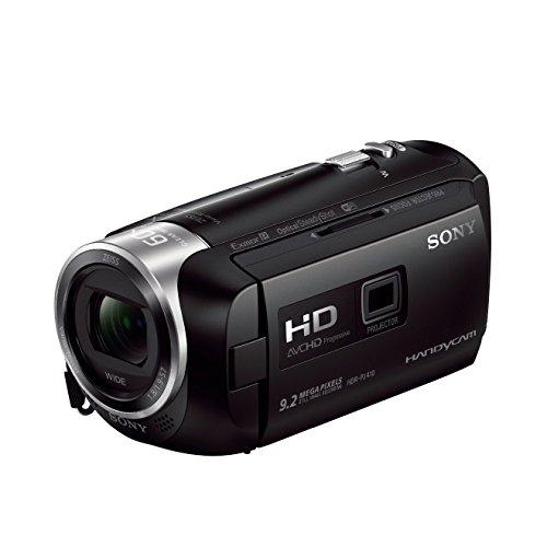 Sony HDR-PJ410 Videocamera Full HD con Proiettore Integrato, Sensore COMS Exmor R, Ottica Zeiss, Zoom Ottico 30x, SteadyShot Ottico, Nero