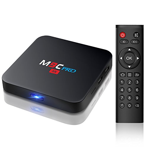 Bqeel M9C Pro Android 6.0 TV Box 4K Amlogic S905X Quad Core [1G / 8G] con Wifi preinstalado Smart TV box