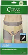 Curad Hernia Belt with Compression Pads, white, Medium