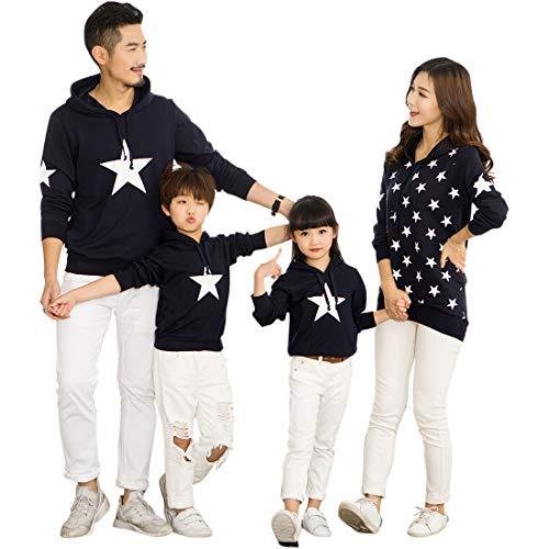 besbomig Familia papá Mamá Hija Hijo Sudaderas Camiseta de