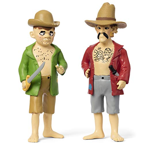 Micki & Friends 44379900 Pippi Langstrumpf Spielfiguren Piraten Jim & Buck - 2-teilig - Puppen - Puppenhaus-Zubehör - ab 3 Jahre
