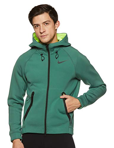 Nike Men's Hoodie (800228-340_Grnstn/Black_XXL)