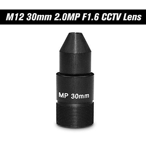 KKmoon HD 2.0 Megapixel Pinhole 30 mm Lens CCTV MTV Board Lens M12 * P0.5 Mount Lens 1/2,7 Zoll Bildformat Aperture F1.6 for Surveillance Security Cameras IP Camera Lens
