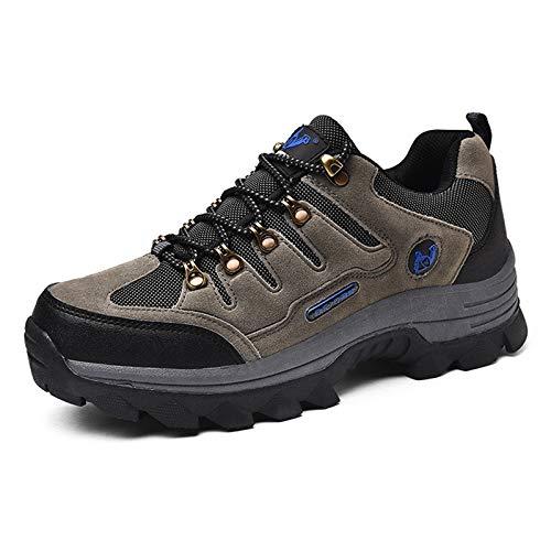 LWGY Buty trekkingowe dla mężczyzn i kobiet, w pełni wodoodporne wysokie na zewnątrz buty trekkingowe podejście buty lekkie oddychające (szare, 37)