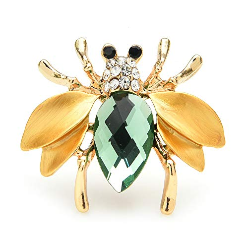 Crystal Esmalte Abeja Broches Mujeres Hombres Rhinestone Insect Party Office Casual Brooch Pins Regalos
