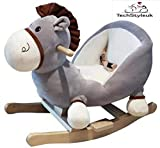 Techstyleuk Baby Rocking Horse for 18 months Old, Wooden Toddler Rocker, Kid Rocking Toy, Infant Rocking...