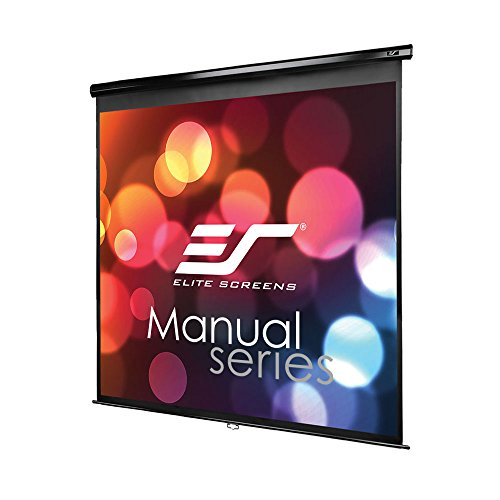 """Elite Screens M99UWS1 écran de Projection 2,51 m (99"""") 1:1 - Écrans de Projection (Manuel, 2,51 m (99""""), 177,8 cm, 177,8 cm, 1:1, Blanc)"""