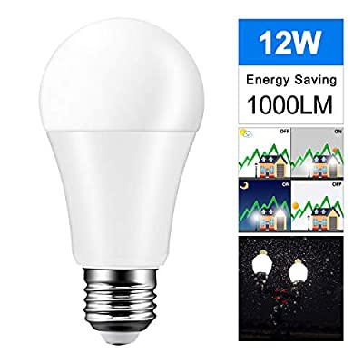 Powstro 12W 8LED Night Light E27 Ball Bulb Auto Sensor Light Dusk on Dawn Off Light Outdoor Use for Garden Courtyard Wall