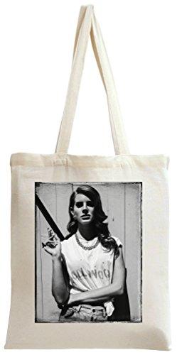 Lana Del Rey Smoking Portrait Print Tote Bag