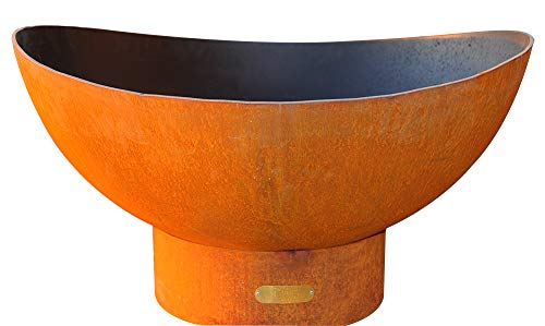 Sale!! Fire Pit Art Scallop Liquid Propane Fire Pit Bowl Outdoor Patio Furniture Steel Firepit Iron ...