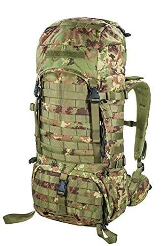 Ferrino zaino tattico media portata 50lt 75566MIM colore militare verde marrone zaino per escursioni esercitazioni militari 50