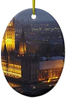 Promini Xmas Ornaments Tree Decor Houses of Parliament, Big Ben, Westminster Ornament for Holiday Season Decoration