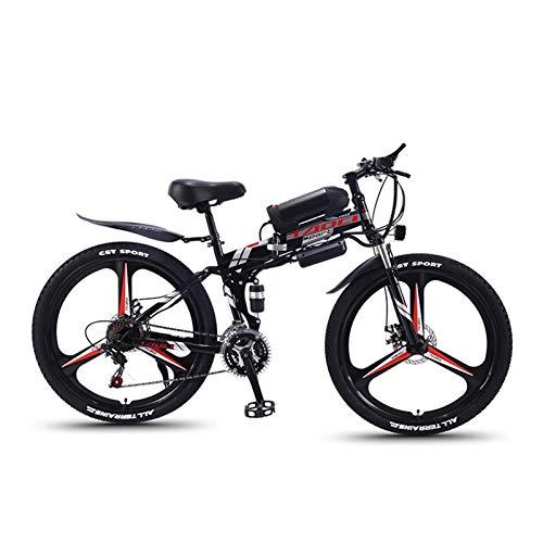 JINSUO Bicicleta de montaña eléctrica plegable de 26 pulga
