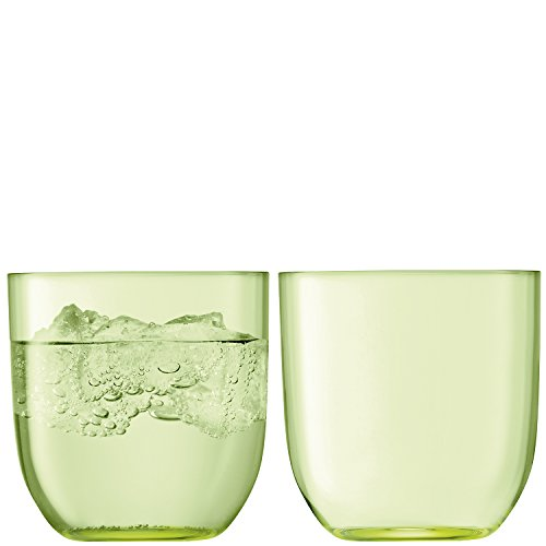 LSA International Hint Gobelet 400 ML X 2 pâle, Citron Vert, 9 x 9 x 9 cm