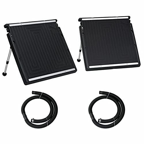 Tidyard Panel Calefactor Solar para Piscina Doble 150x75 cm Calentador Solar Piscina Panel Calefactor Radiador Agua SPA Jacuzzi