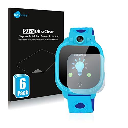 savvies Protector Pantalla Compatible con Prograce 1.5' Kids Smartwatch (6 Unidades) Película Ultra Transparente
