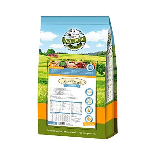 Bellfor Welpenfutter Getreidefrei Kaltgepresst Wiesen-Schmaus Junior - Huhn 4 kg