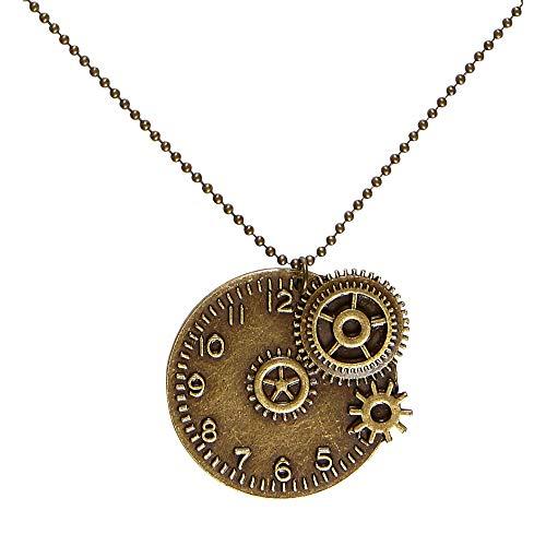 Widmann 01781 Steampunk Kette, Unisex– Erwachsene, Bronze
