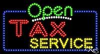 17x32x1インチ 税務サービスアニメ点滅LEDウィンドウサイン