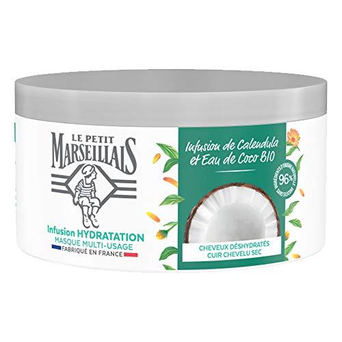 Le Petit Marseillais Masque Hydratation Intense pour Cheveux Secs et Abîmés, Infusion...
